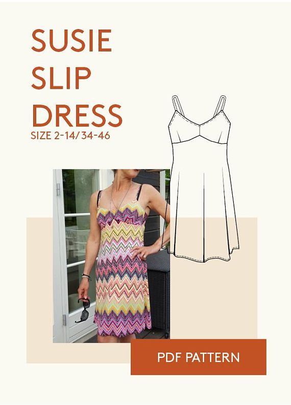 Ladies Baby doll slip dress PDF sewing pattern/Ladies slip | Stof ...