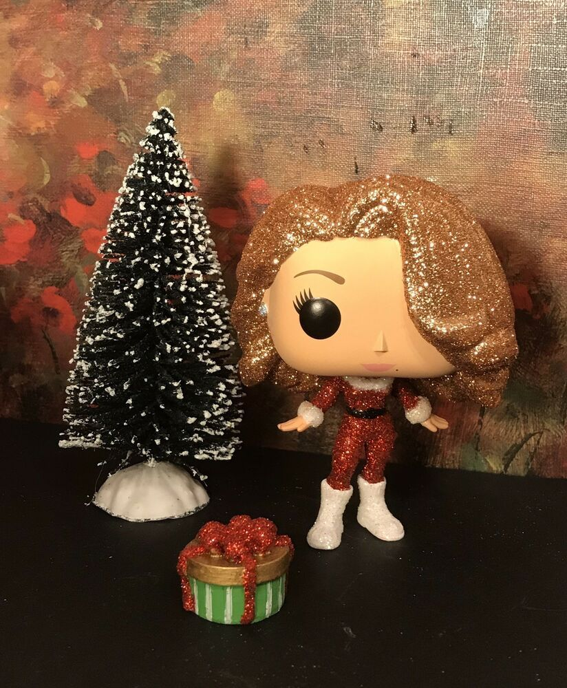 Funko Pop Custom Glitter MARIAH CAREY Merry Christmas By