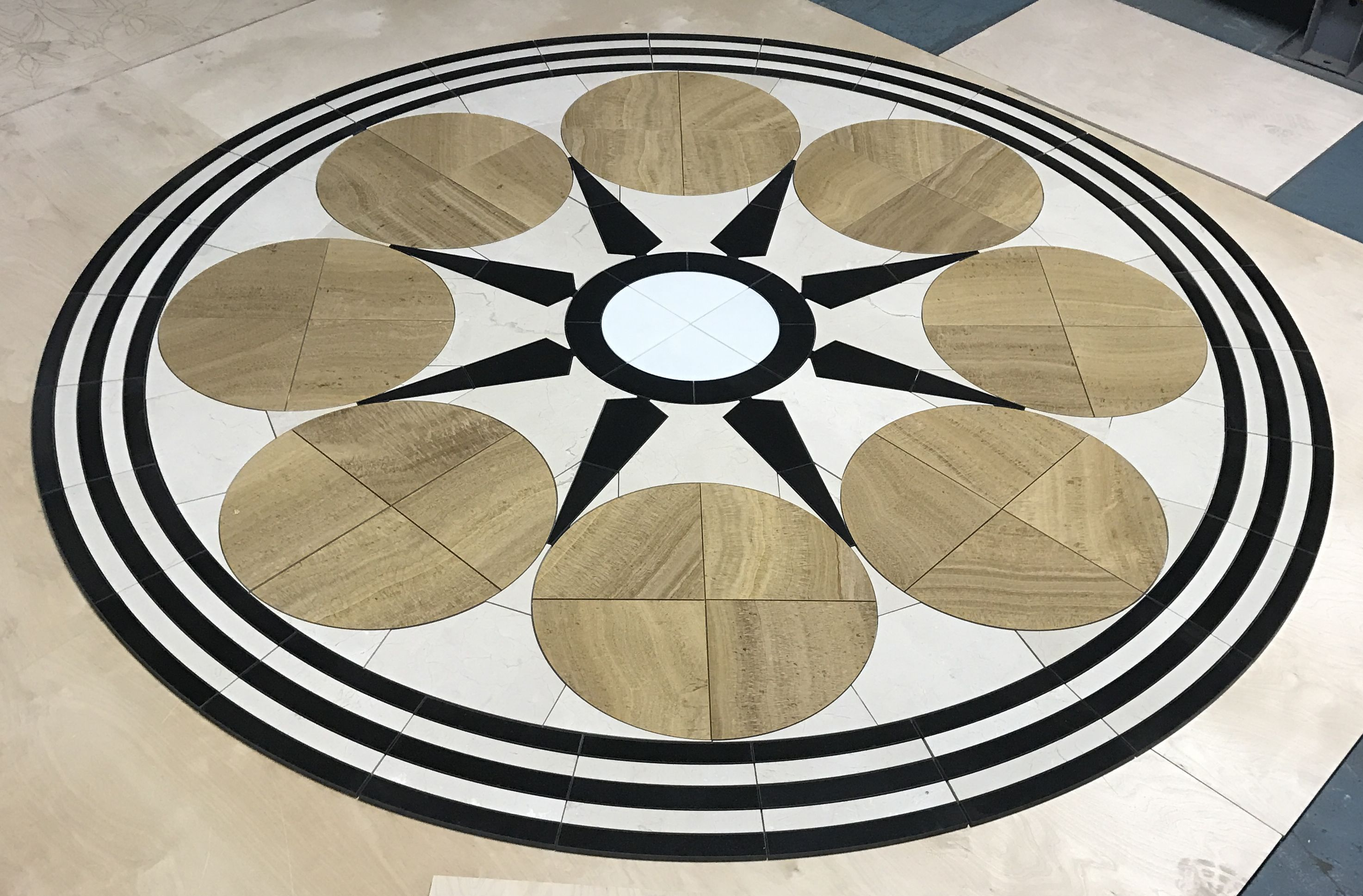 Oshkosh Designs 8 Custom Stone Floor Medallion