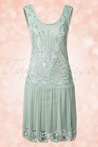 20s Zelda Flapper Dress in Mint   Pinterest   Generalprobe kleid ...