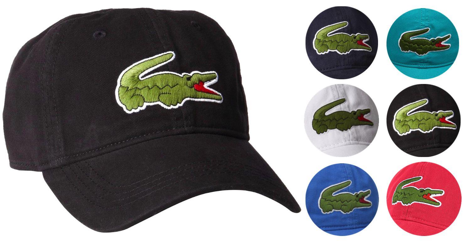 5b636ae181 Hats 52365: Lacoste Men S Classic Gabardine Premium Cotton Big Croc ...