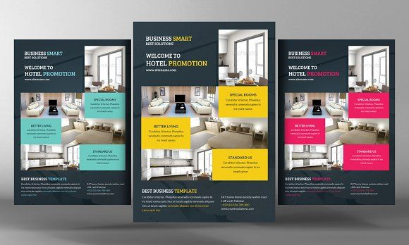 Hotel Promotion Flyer Template by Business Templates on - hotel brochure template