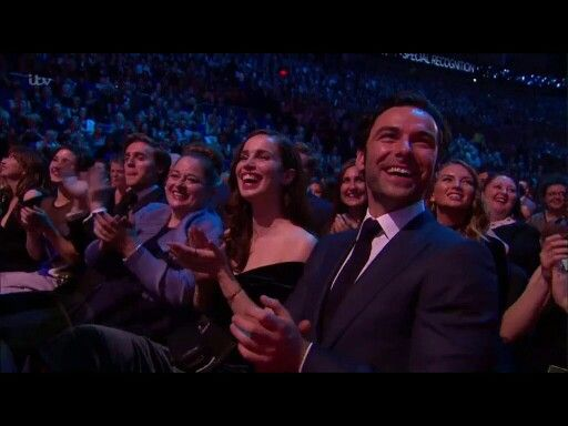 Aidan Turner and the Crew from Poldark at the NTA's