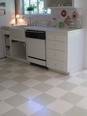DIY Painted Vinyl Floors: When Your Budget Isnu0027t Ready To Replace It    Paint It!