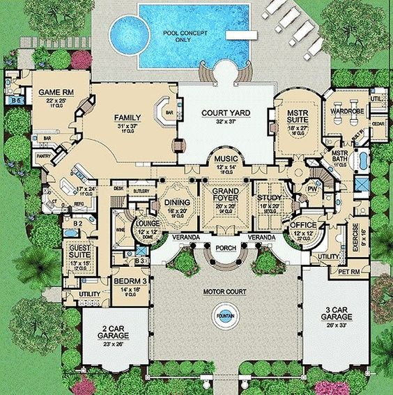 Plan 36183TX: Palatial Estate Of Your Own