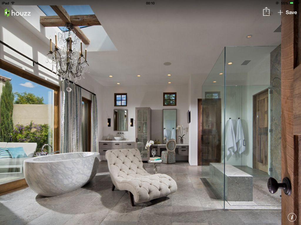 Jacuzzi in master bedroom  Shower area  Bathroom  Pinterest