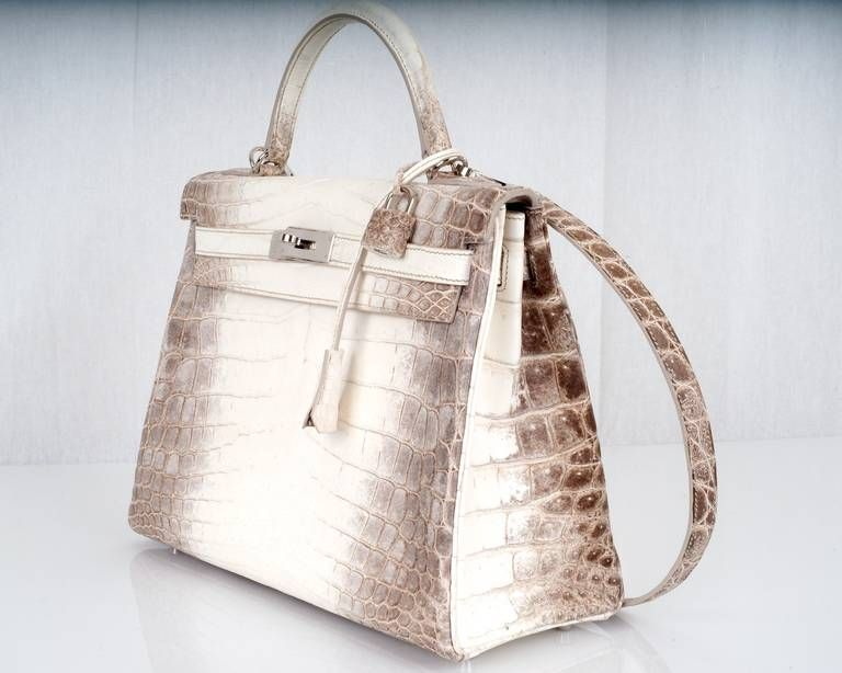 WOWZA! HERMES KELLY BAG 32cm HIMALAYAN WHITE CROCODILE  7612aab62b40d