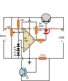 usb li ion battery charger circuit auto cut off and current rh pinterest ie