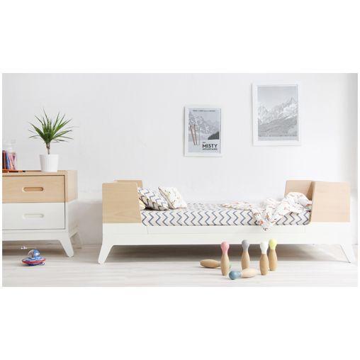 r tro et minimaliste le lit enfant horizon 90 x 200 cm de nobodinoz se marie avec tous les. Black Bedroom Furniture Sets. Home Design Ideas