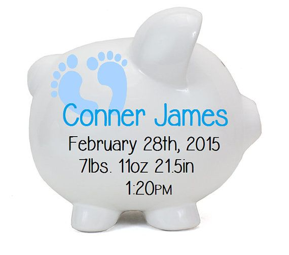 Personalized piggy bank boy piggy banks personalized ceramic check out personalized piggy bank boy piggy banks personalized ceramic piggy bank polkadot baby boy new baby gift baby shower birth gift on negle Images