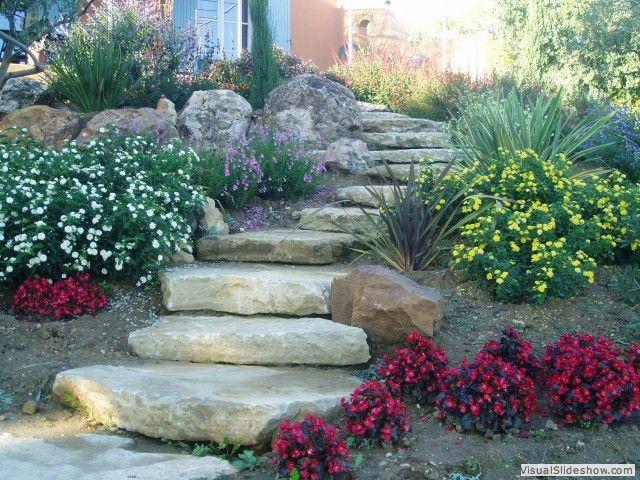 avec escalier dalle pierres rocaille pinterest dalle pierre dalles et correspondant. Black Bedroom Furniture Sets. Home Design Ideas