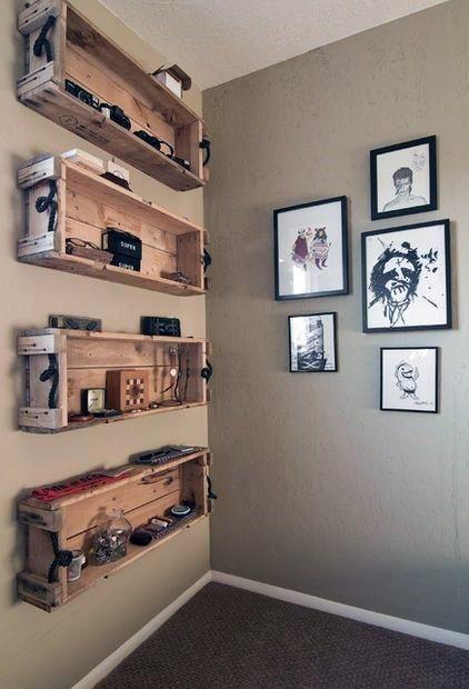 50 Cheap Man Cave Ideas For Men Low Budget Interior Design Repurposed Wooden Crates Budget Interior Design Pallet Diy