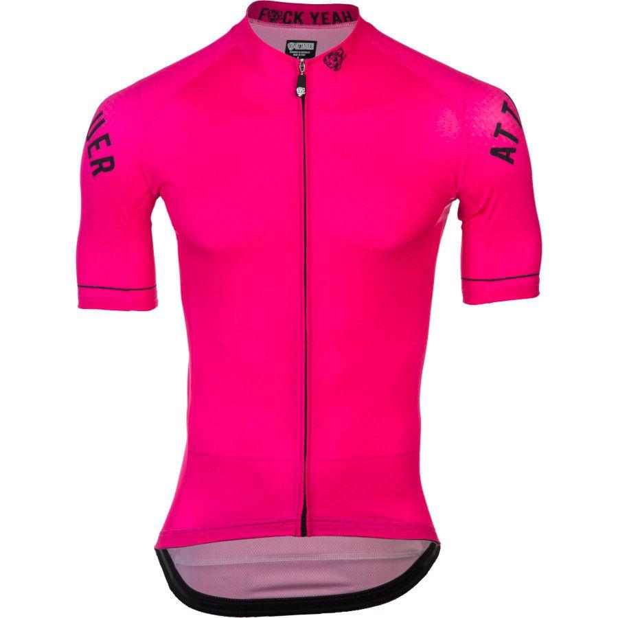 Hot Pink Road Bike Jerseys Bike Jersey Men Short Sleeve