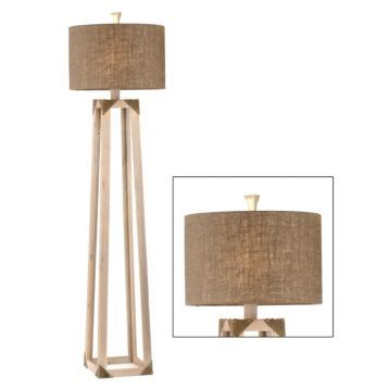 Industrial wood floor lamp kirklands