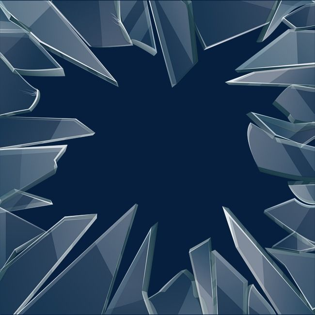 Transparent Glass Fragments Broken Glass Art Broken Mirror Drawing Glass Fragments