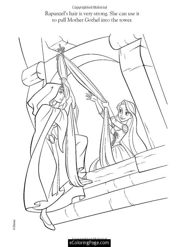 Coloring Pages For Rapunzel : Disney tangled coloring pages printable disney tangled rapunzel