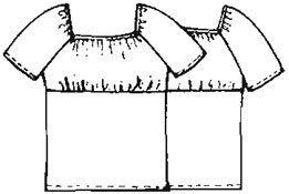 Выкройка легкой блузки реглан, размеры 44, 46, 48, 50, 52, 54