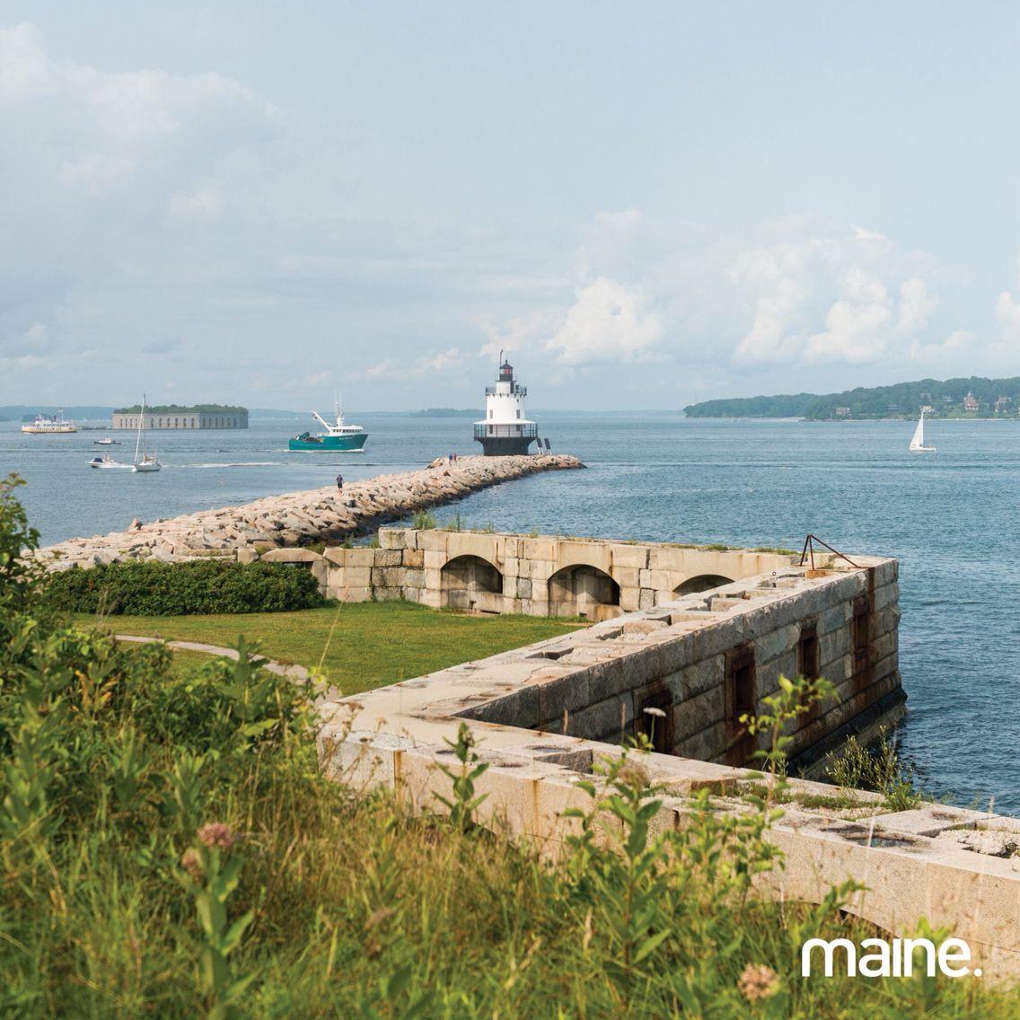 Long beach lighthouse wedding  Fort Preble ME  Maine  Pinterest  Forts