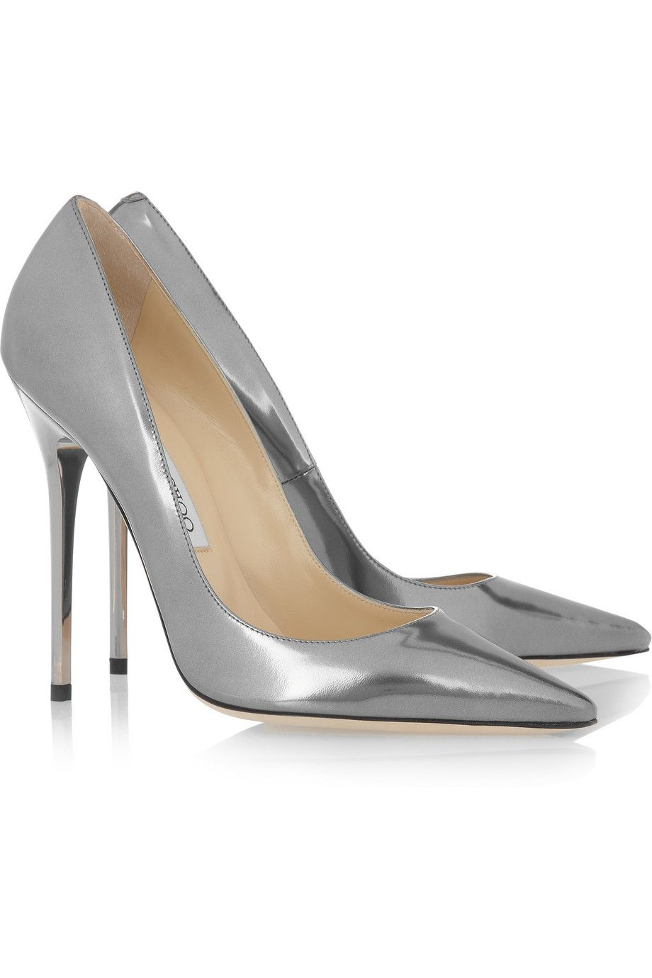 Jimmy Choo Metallic Leather Pumps outlet ebay collections online free shipping get to buy 7Q9F8OTOhY