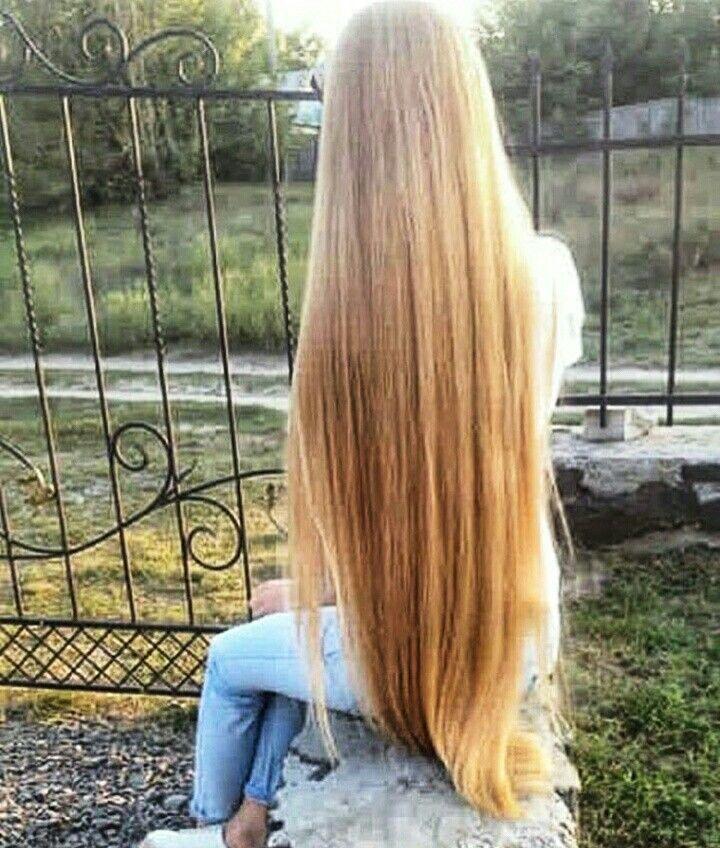 замаскирует очень длинные светлые волосы картинки она