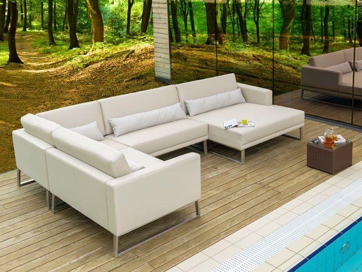 BARI Gartenmöbel Lounge Gartenset C 17 Teilig Silvertex