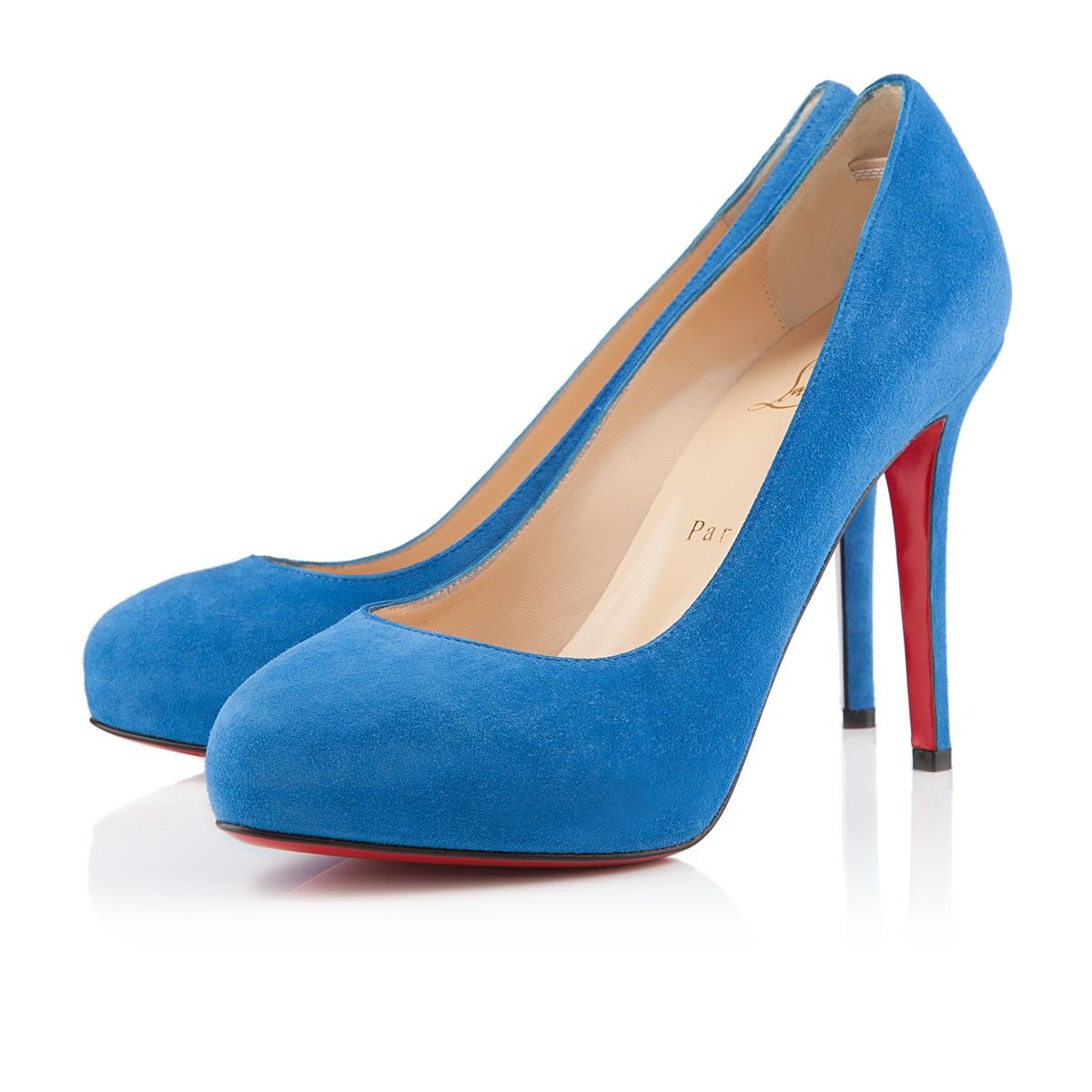 Christian Louboutin New Declic 120 Blue Saphir Suede · Something BlueLouboutin  PumpsChristian Louboutin ShoesShoes ...
