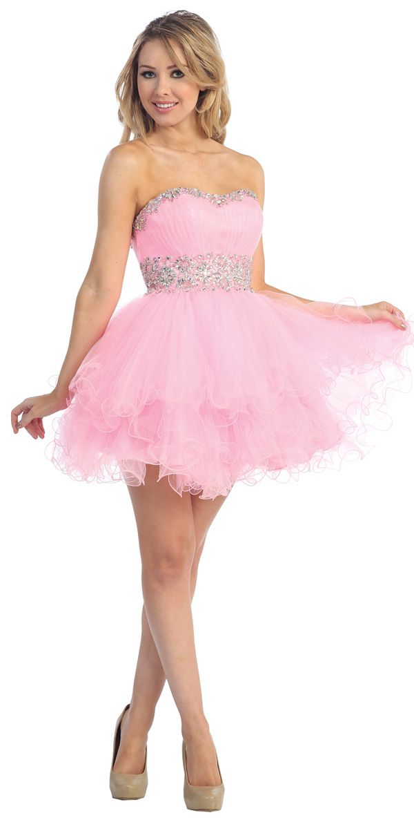 promerz.com pink-short-prom-dresses-24 #promdresses | Dresses ...