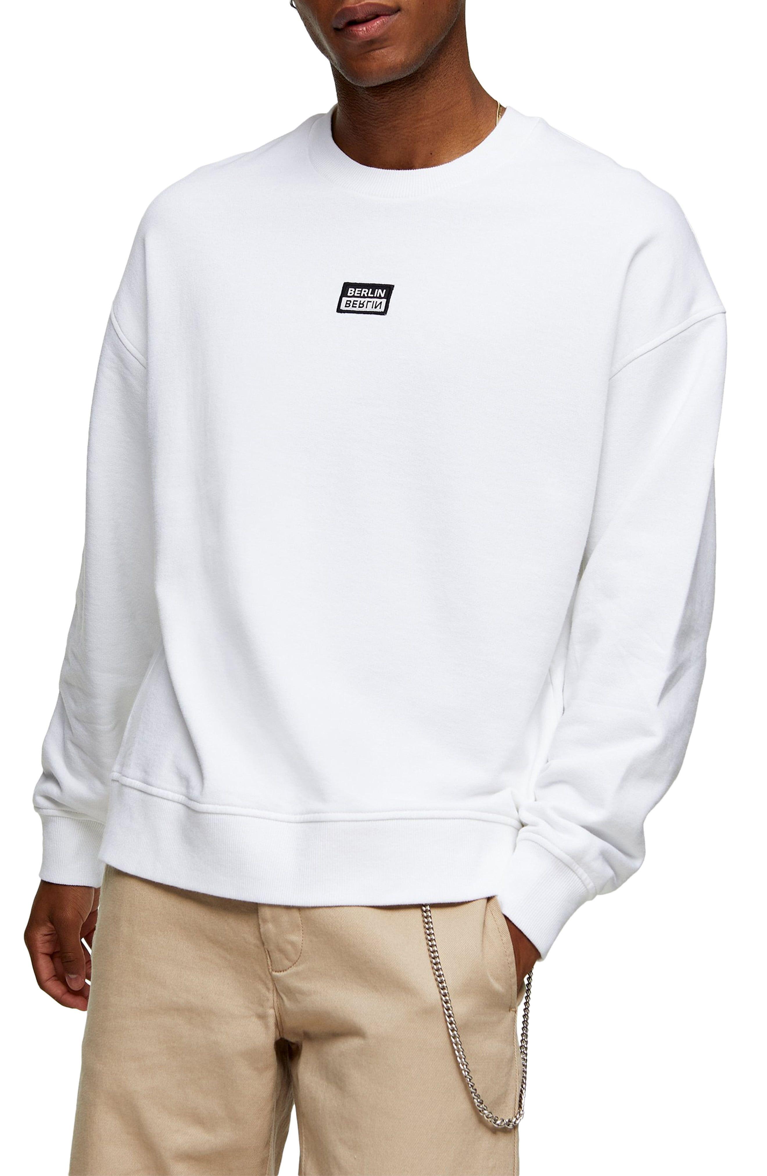Topman Berlin Patch Oversize Crewneck Sweatshirt Nordstrom Crew Neck Sweatshirt Sweatshirts Oversized Crewneck [ 4048 x 2640 Pixel ]