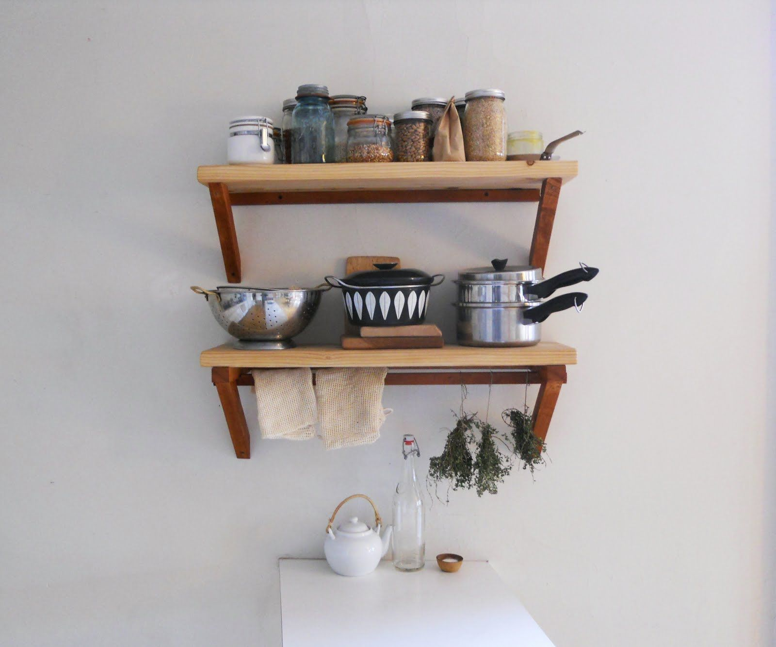 Accessories U0026 Furniture,Unusual Kitchen Hanging Shelving Systems With Small  Rectangular Oak Unfinished Appliance Hanging Shelf In White Wall  Paint,Stunning ...