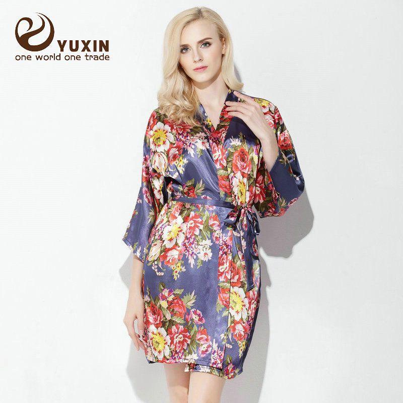 6e0a00bfcc Floral Bridesmaid robes satin robe gowns bride wedding robe silk kimono robe   satin robe