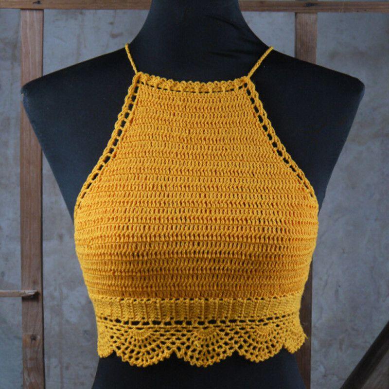 crochet halter top - Google Search | Azul | Pinterest | Crochet ...