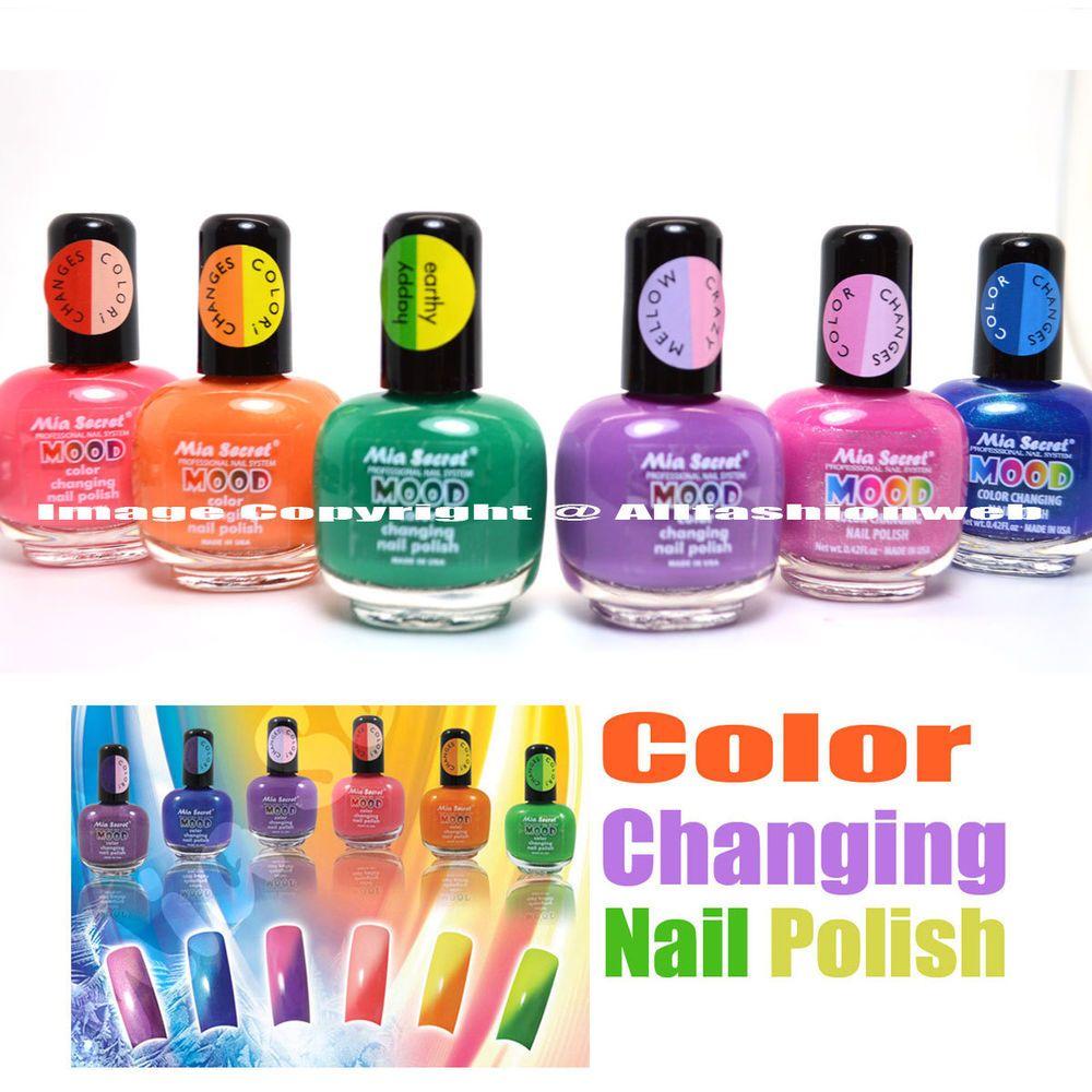 6 full set mia secret mood color changing nail polish lacquer md ...