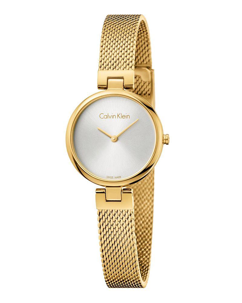 Calvin Klein Authentic Gold K8g23526 In 2020 Calvin Klein Damen Calvin Klein Uhr Kleine Dame