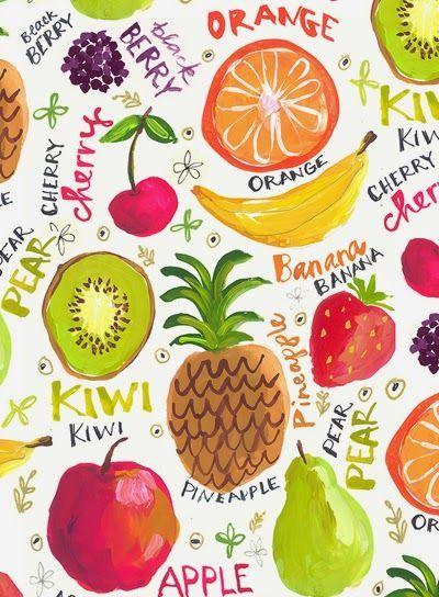 872822d299c Pin by Tanya Ten on Design + Typography | Print patterns, Fruit, Fruit  illustration