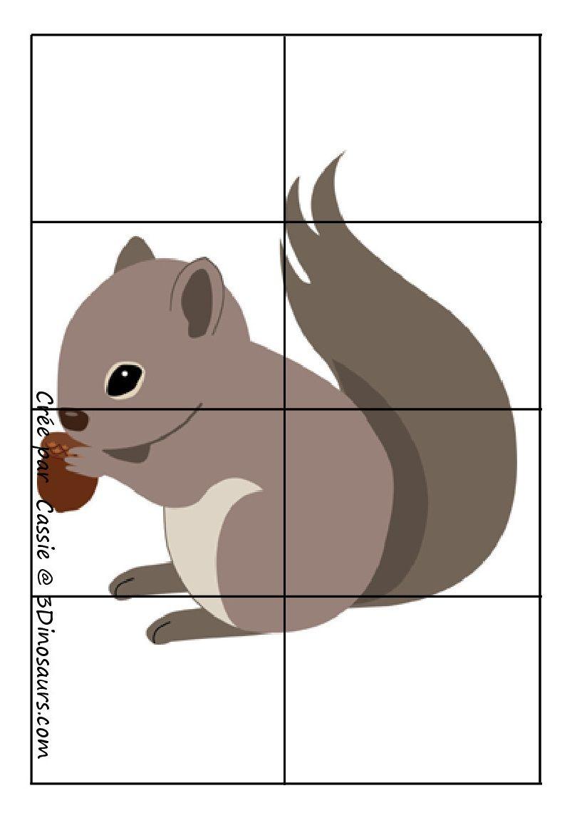 Werkblad motoriek: * Puzzel: Eekhoorn!