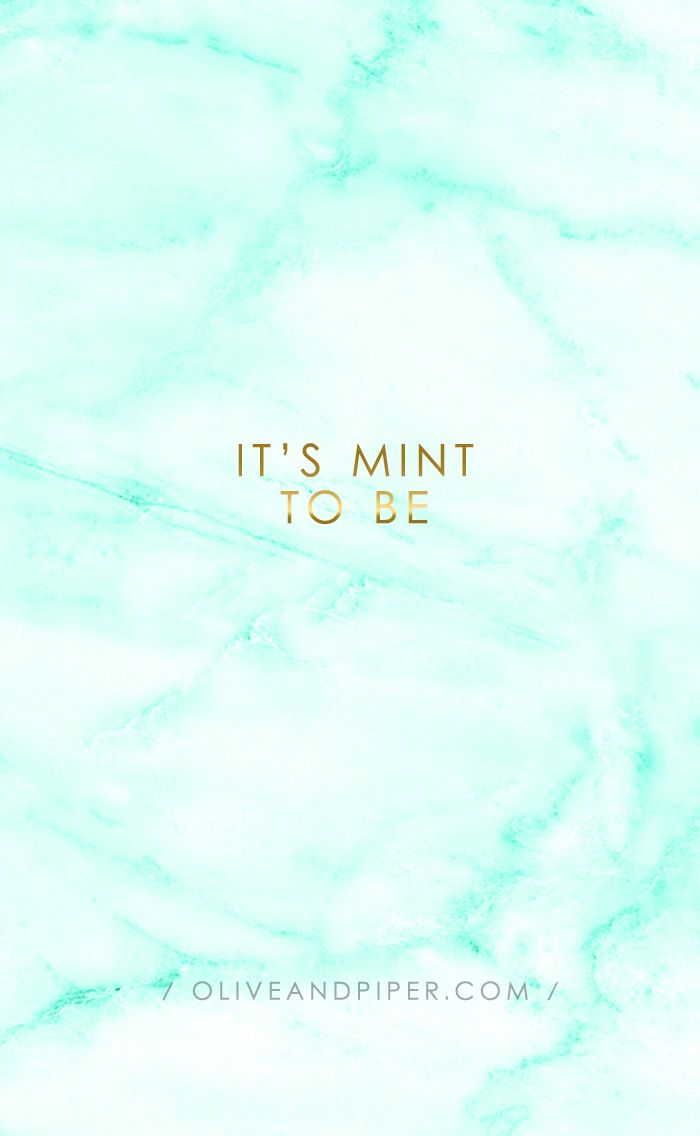 Mint Green Cute Marble Wallpapers