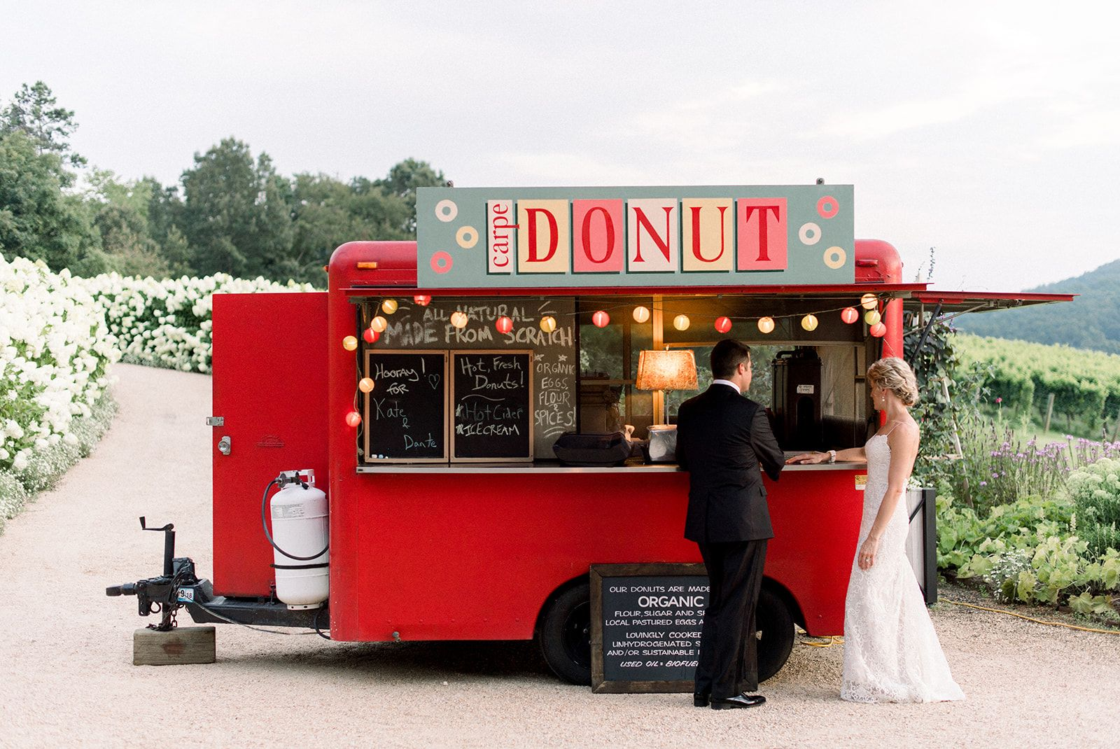 What S Better Than A Food Truck At A Wedding A Food Truck With Warm Fresh Donuts At Pippin Hill Farm And Vine Virginia Wineries Barolo Wine Wine Tours France