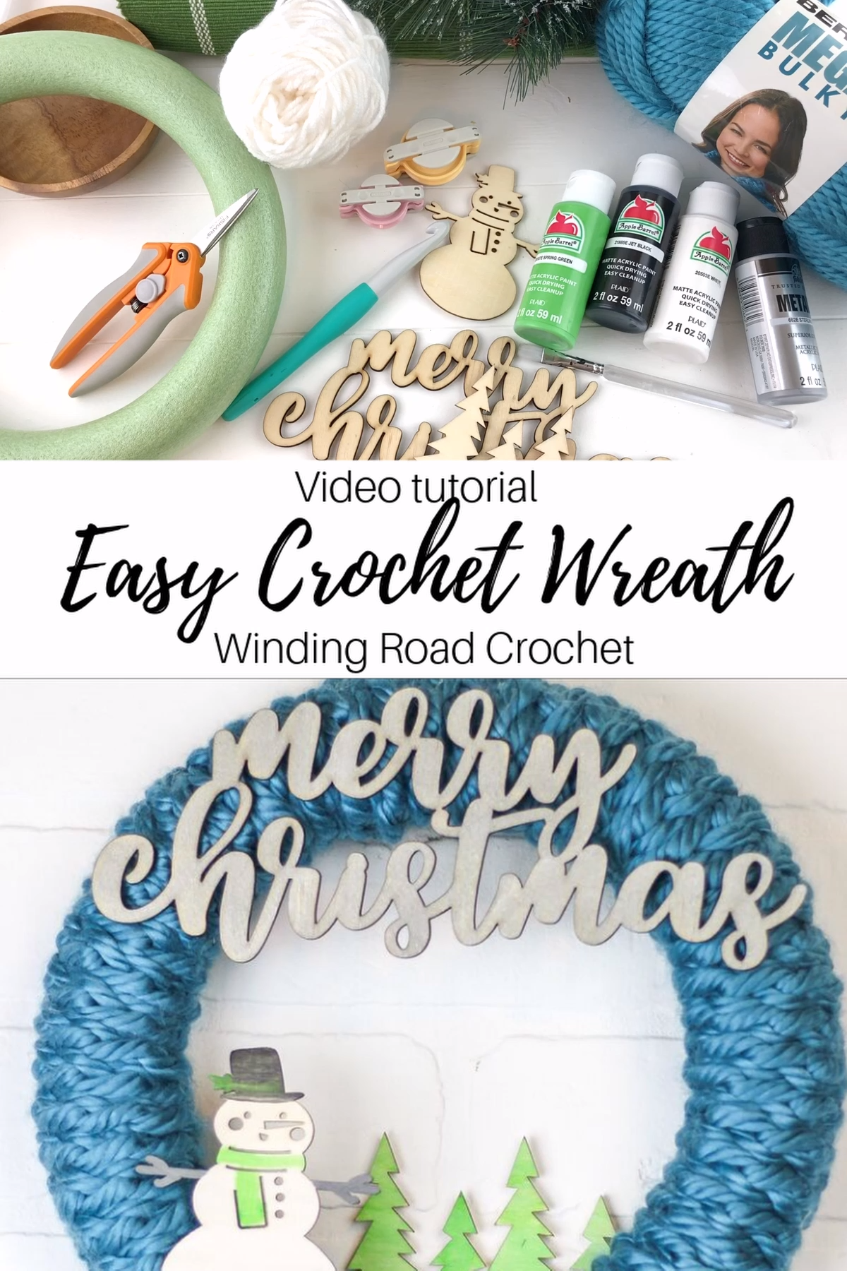 Photo of Quick + easy video tutorial on crochet wreath