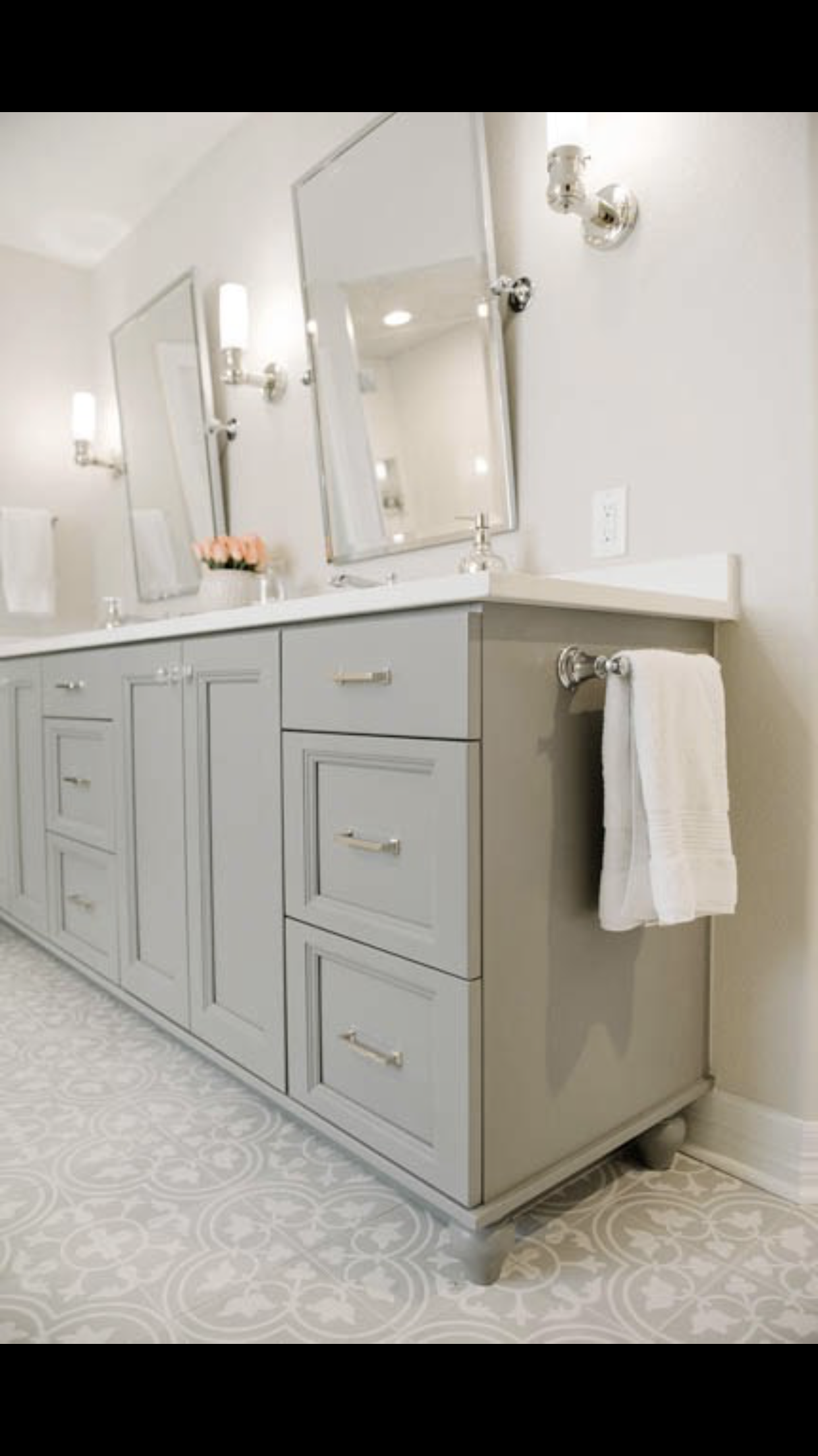 Master Bath Tile Vanity Combo Sweet Birch Drive In 2019