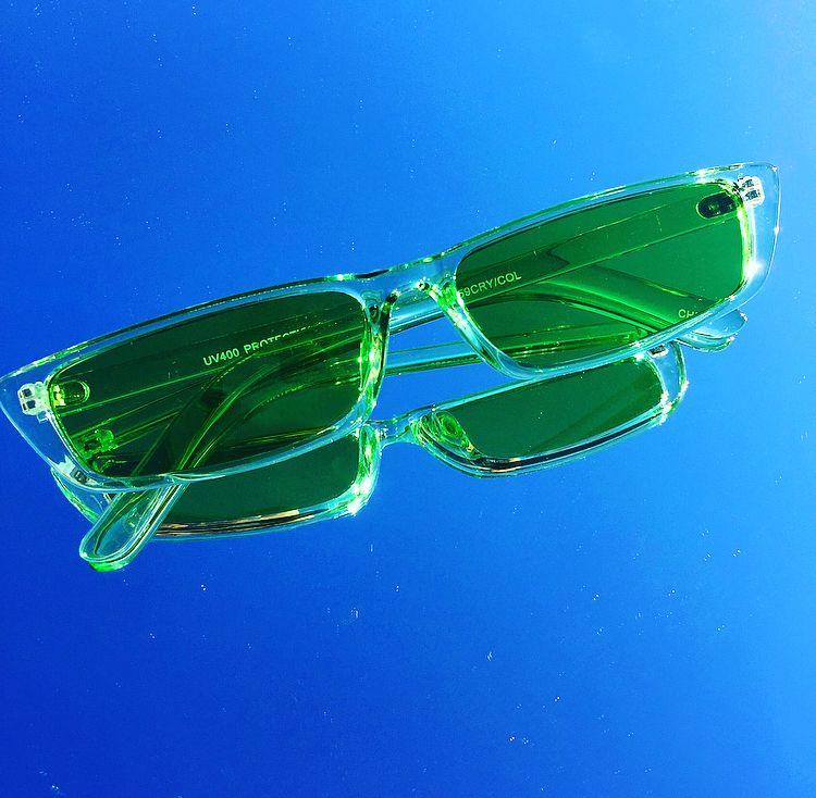 Y2k Vintage Transparent Green Oval Sunglasses 90s sunglasses