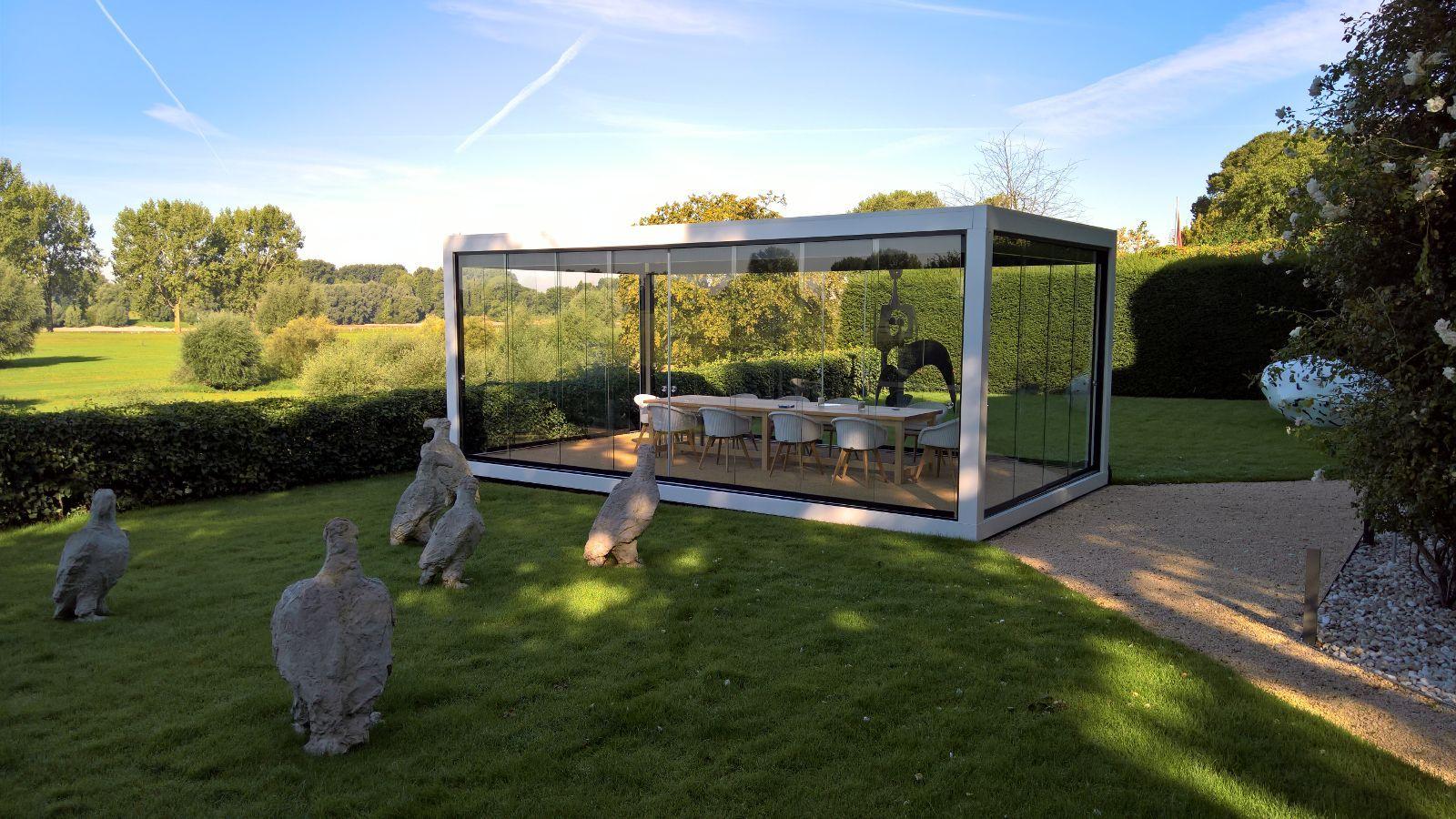 Glashaus Wintergarten melano terrassendach cube pavillon glashaus wintergarten