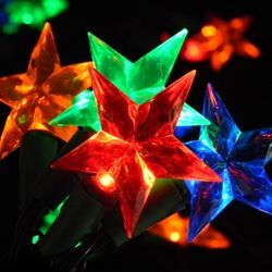 led string lights 20 multicolor stars battery operated timer