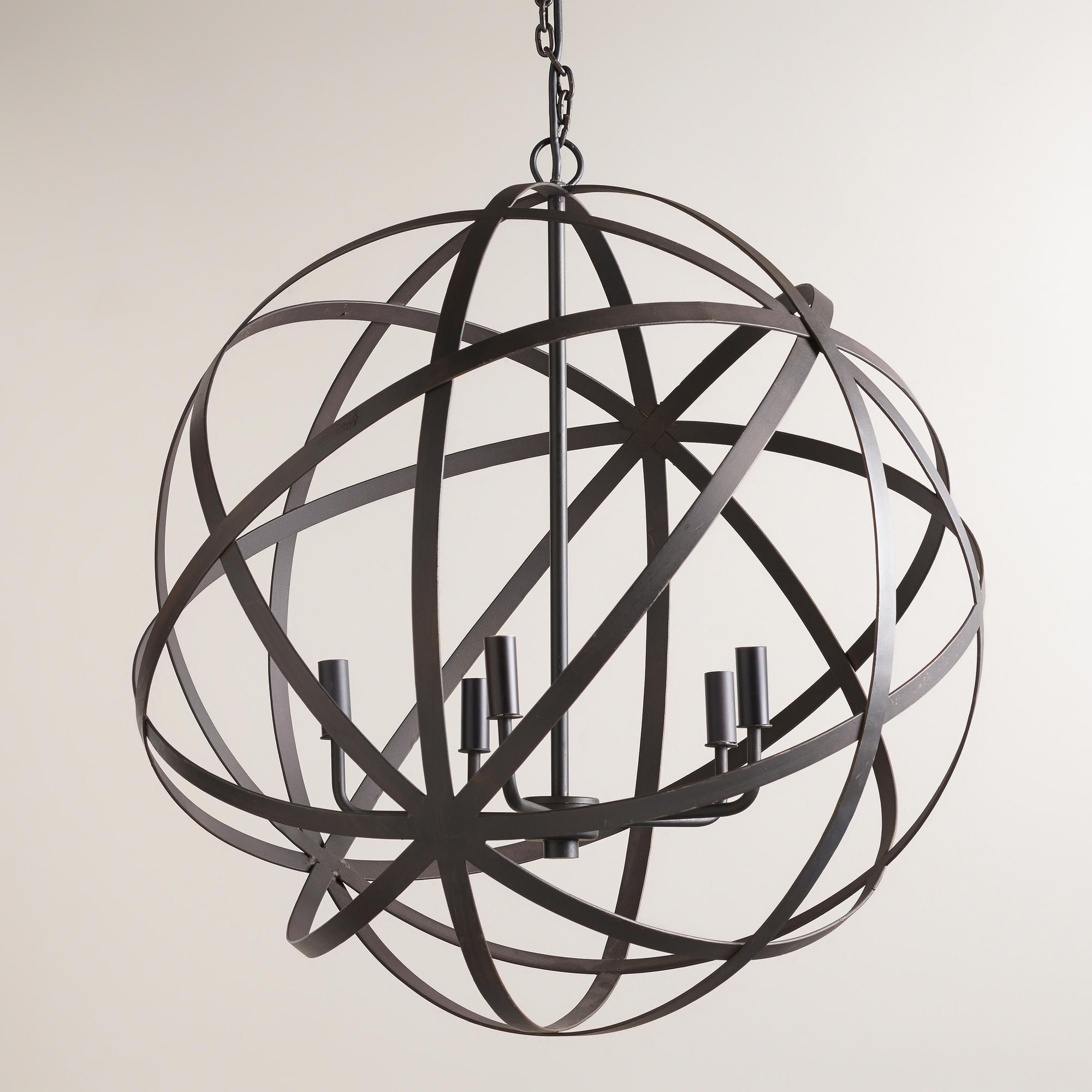 Large Metal Orb Chandelier World Market Light Fixtures  # Muebles Pikeando