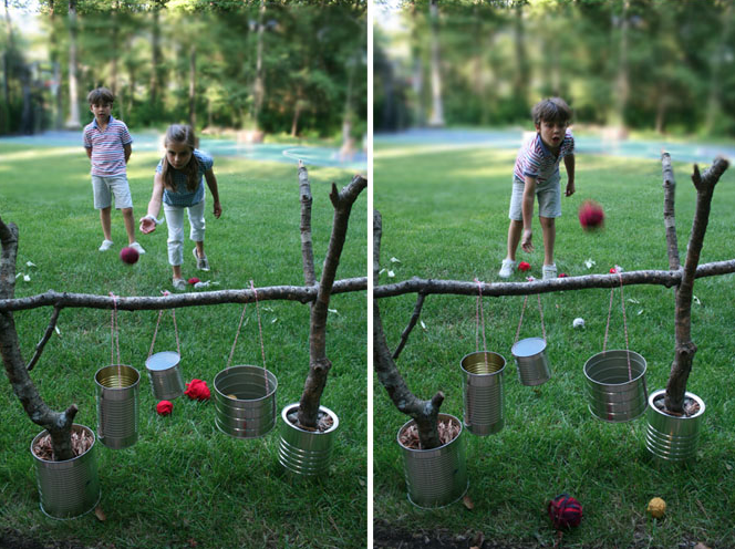 homemade outdoor games for kids. DIY Outdoor Kids Game: Looks Really Inexpesive With Things That You Would Otherwise Throw Away Homemade Games For