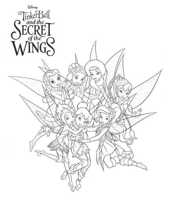 Kleurplaten Van Tinkerbell.Kleurplaat Tinkelbel Secret Of The Wings Tinkerbell Secret Of The