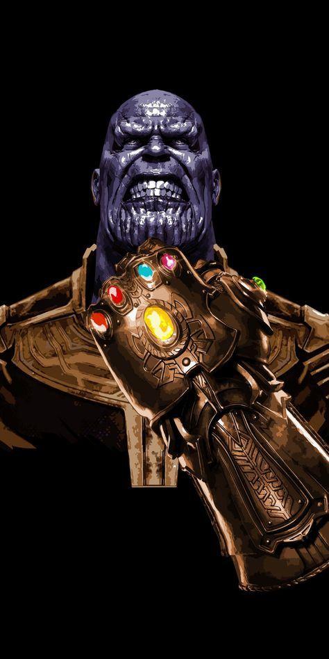 Angry Thanos, minimal, art, 1080x2160 wallpaper