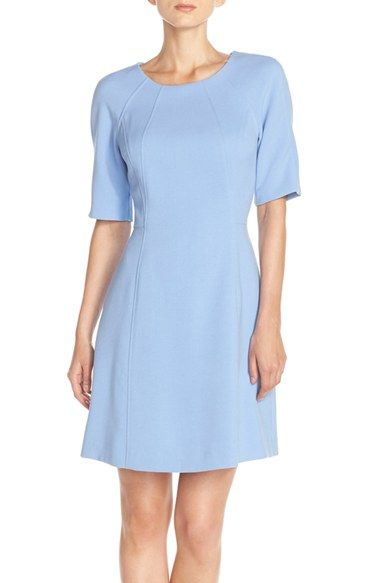 215bc911fd826 Vince Camuto Seamed Crepe A-Line Dress (Regular   Petite) available at