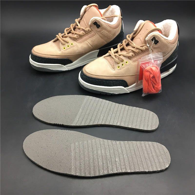various colors b7072 e0a5d Justin Timberlakes Air Jordan 3 JTH NRG Bio Beige Suede AV6683 200 In-Sole -