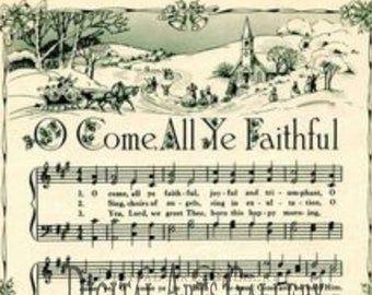 Jingle Bells Vintage Christmas Sheet Music Download #vintagesheetmusic