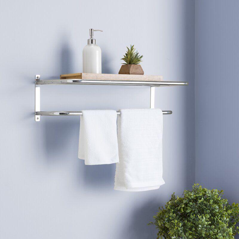 Home Basics Wall Mounted 24 W X 7 H Bathroom Shelf Wayfair